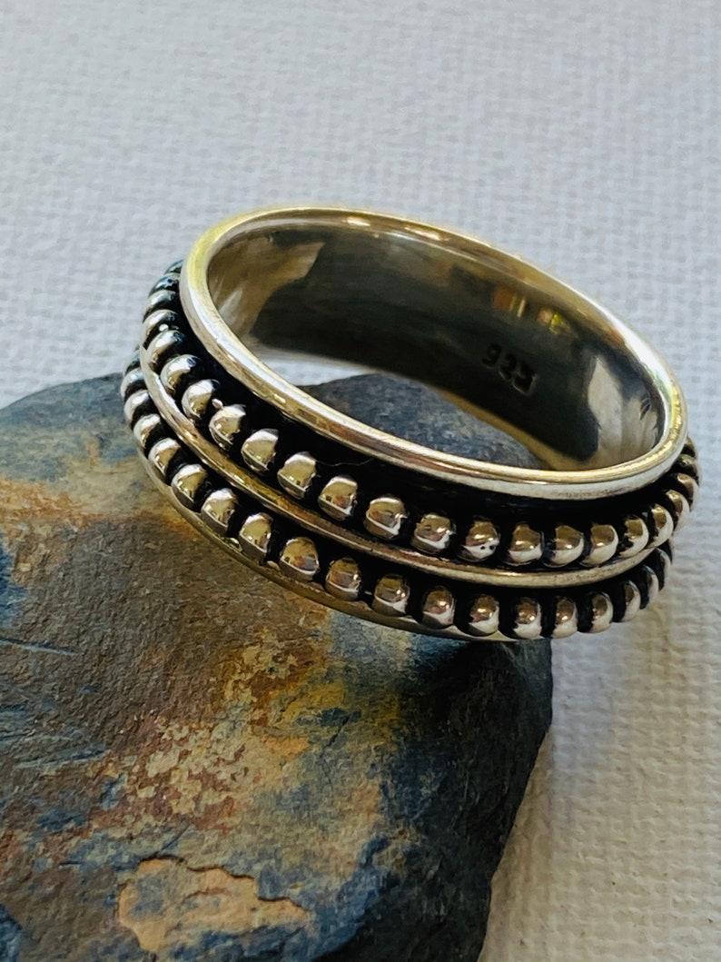 925 Sterling Silver Spinner Ring