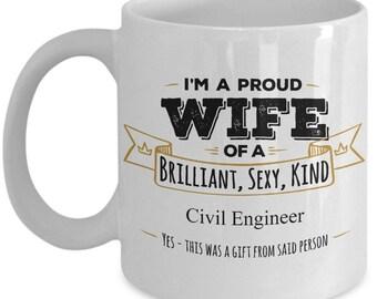 Gift For Civil Engineer Mug Gifts Wife Coffee MugBirthday GiftAnniversary GiftWife