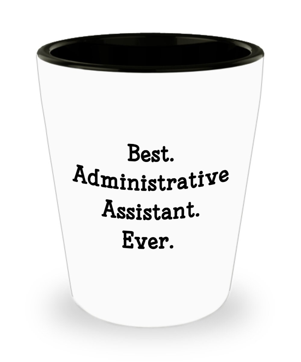 Admin Assistant Shot Glasses Best Administrative Assistant   Etsy
