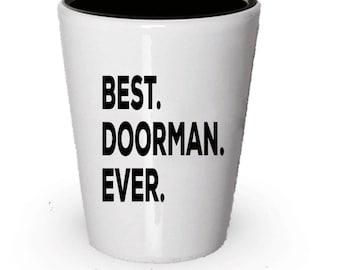 Doorman Shot Glass, Best Doorman Ever, Doorman gift, Gift for Doorman , Birthday Gift, Christmas Present