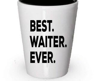 Waiter Shot Glass, Best Waiter Ever, Waiter gift, Gift for Waiter , Birthday Gift, Christmas Present
