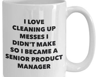 I became a senior product manager mug - coffee cup - senior product manager gifts - funny novelty birthday present idea