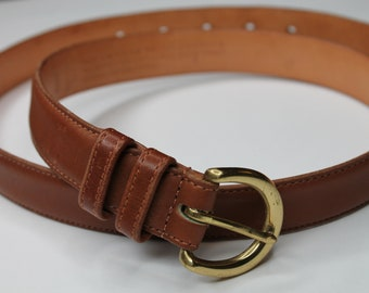 345a1bd46f73 Vintage Coach Brown Leather Belt