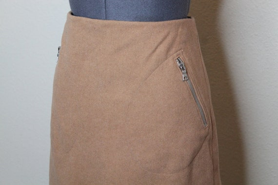 Vintage 90s Tan Mini Skirt | Nude Skirt 90s Does … - image 6