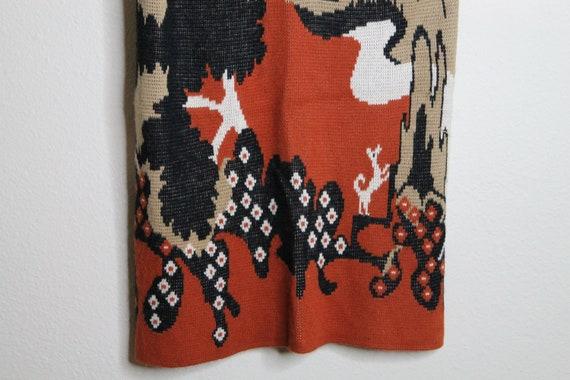 Vintage 70s Psychedelic Desert Print Vest   Long … - image 6