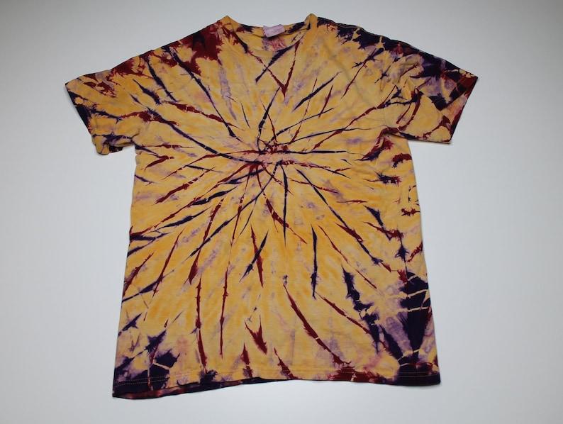 e126460e092a5 Vintage 90s Mustard Yellow Tie Dye Tshirt