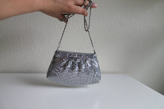Vintage Silver Chainmaille Mini Bag | Tiny Purse |