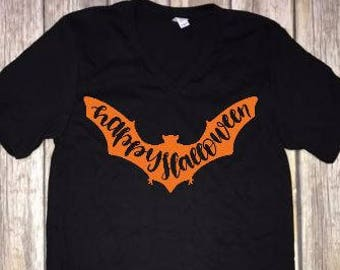 happy halloween bat t shirt fall t shirts october t shirts cute halloween t shirts cute black bat shirt cute girl halloween shirts