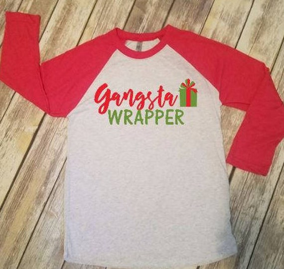 f052a99d Gangsta Wrapper Funny Christmas T-shirt Christmas Vacation | Etsy