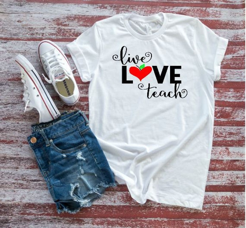 554dfdc6 Live Love Teach Teacher T-shirt Team Teacher Shirts | Etsy