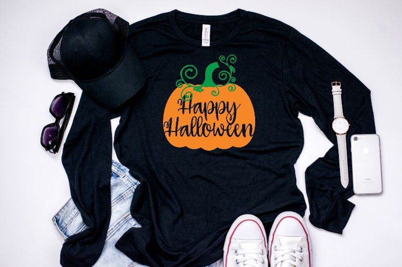 35c1a4ac Happy Halloween Fall T-Shirt Cute Halloween Shirts Fall | Etsy