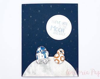 Star Wars, R2D2, BB8, Merry Christmas, Birthday, Love, Anniversary, Star Wars Christmas, Valentine