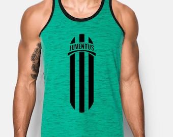 260c23da3f8 Juventus Italy Tank Top Green and Black Custom Graphic Camiseta Soccer  Futbol Europa
