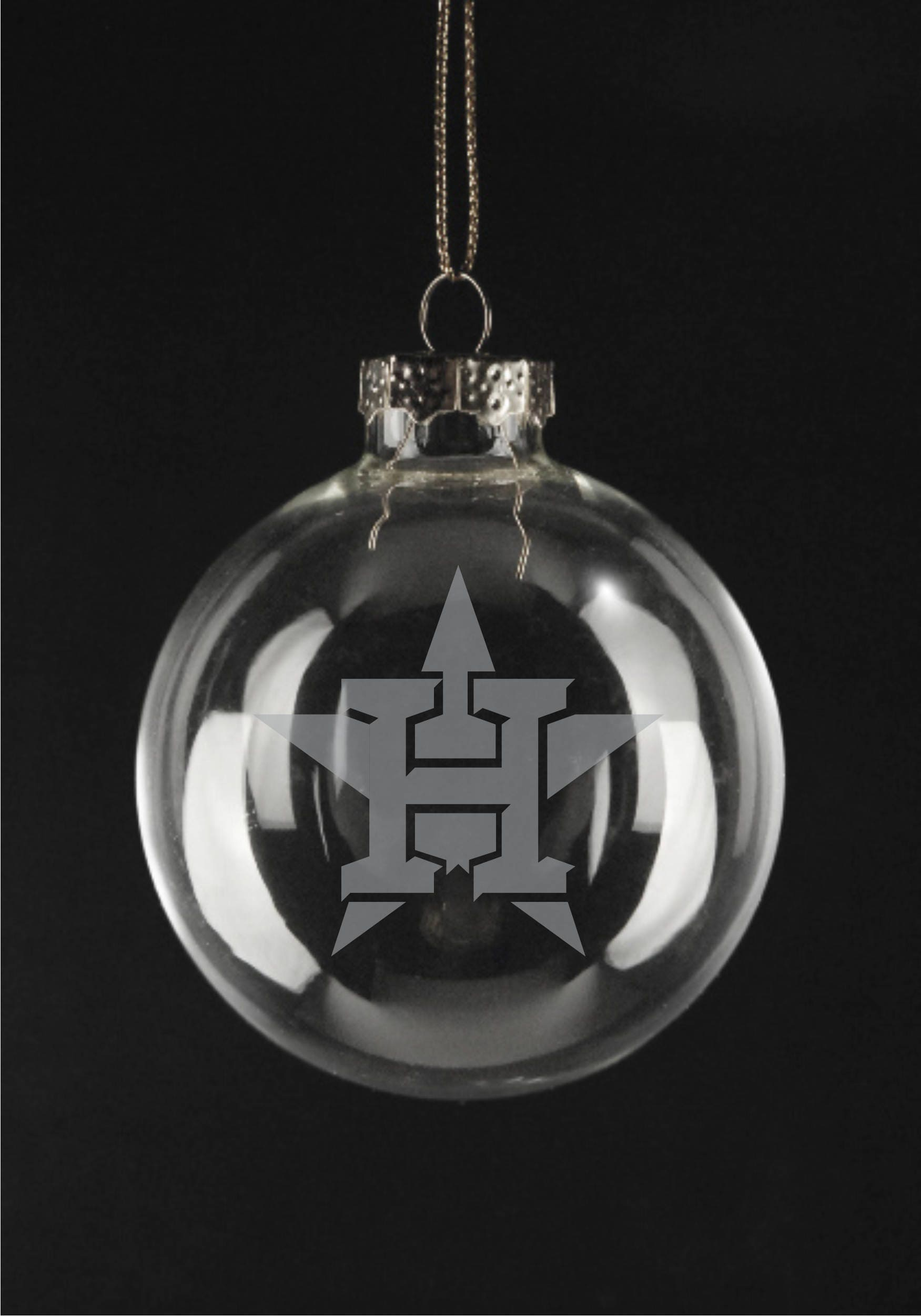 houston astros glass ornament 3125 disc etched xmas special gifts