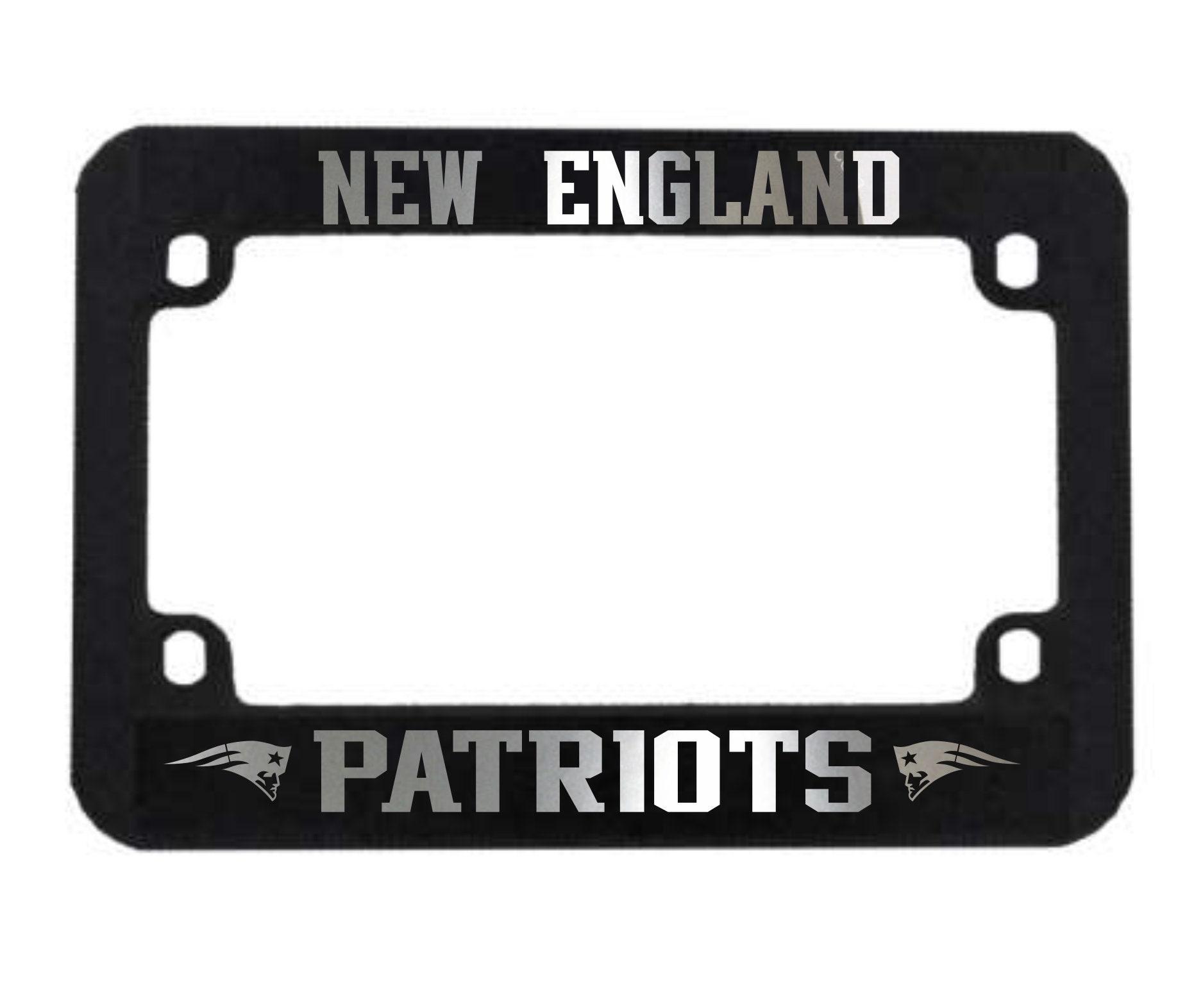 New England Motorcycle Black Plastic License Plate Frame Plate Holder