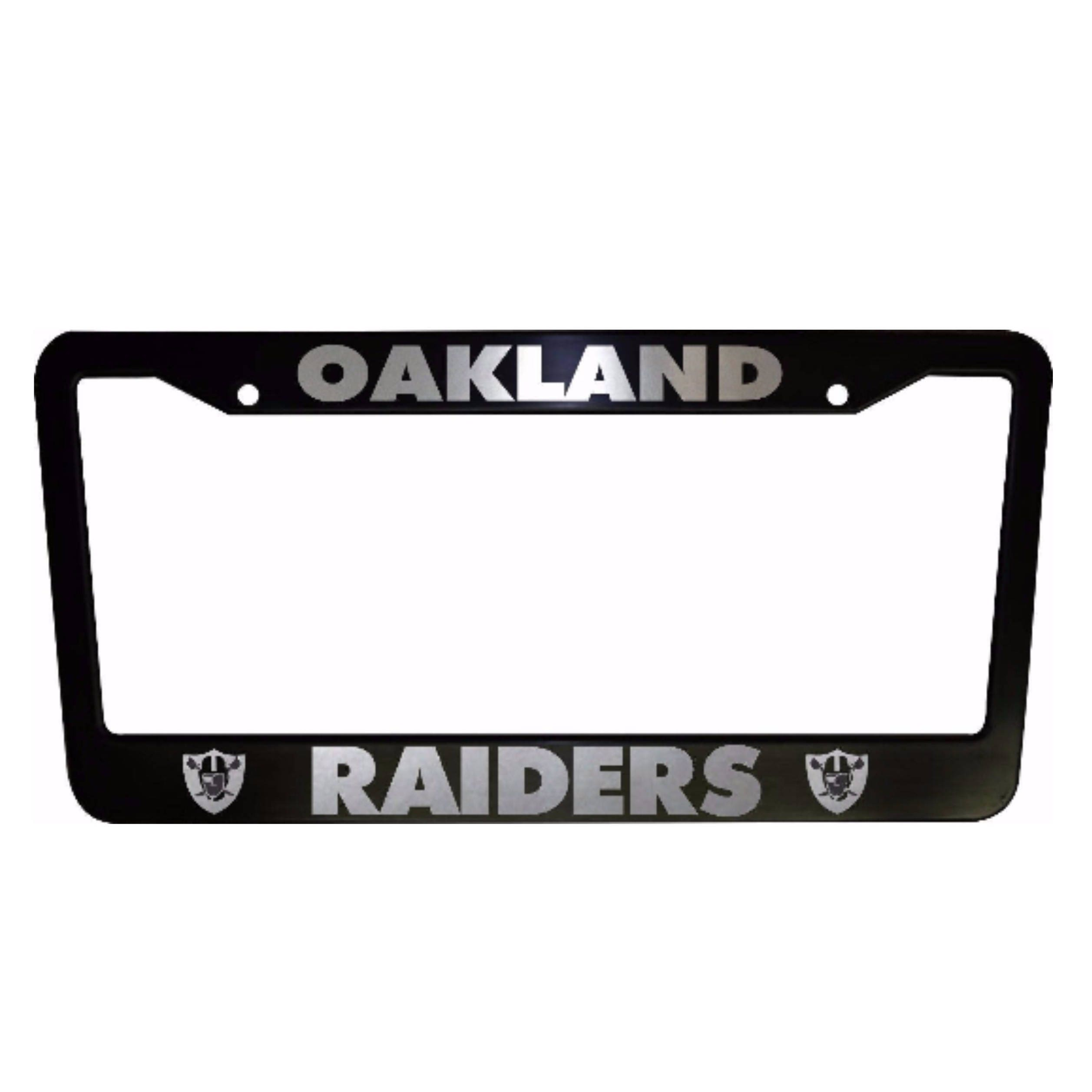 2 PAIR Oakland Raiders Black Plastic License Plate Frame | Etsy