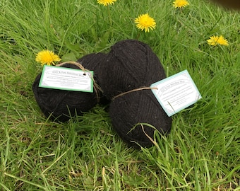 100% Organic Hebridean wool, 100g balls of DK. All profits support our work with the Rare Breed Survival