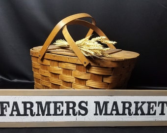 Farmers market, farmers market sign, farm market, vintage wooden sign, rustic hand painted sign, farmers market wood sign, cottage decor,