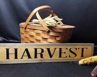Harvest sign, harvest fall sign, autumn harvest sign, porch sign, wood sign, hand painted wood sign, primitive wood sign, harvest