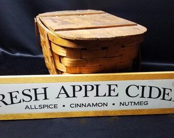 Fresh apple cider wood sign, autumn sign, fall sign, autumn decor, fall decor, wood sign, hand painted sign, framed wood sign, primitive