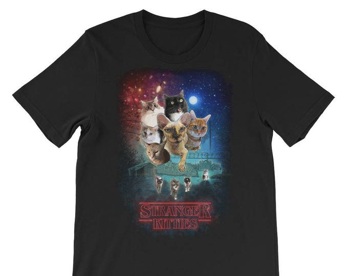 Stranger Kitties T-Shirt (Stranger Things Parody)