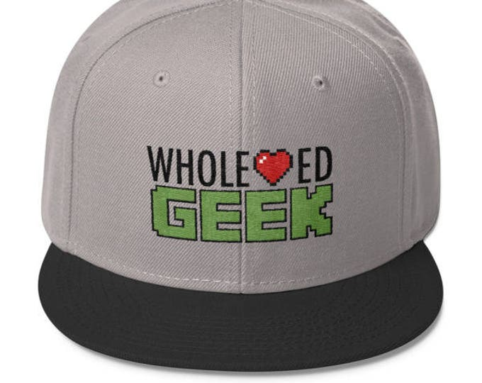 Wholehearted Geek Logo Snapback hat //  Geek hat