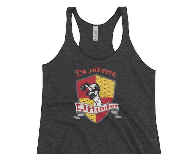Do you even Liftindor Women's Racerback Tank // Harry Potter Inspired Tank Top // Gryffindor Parody