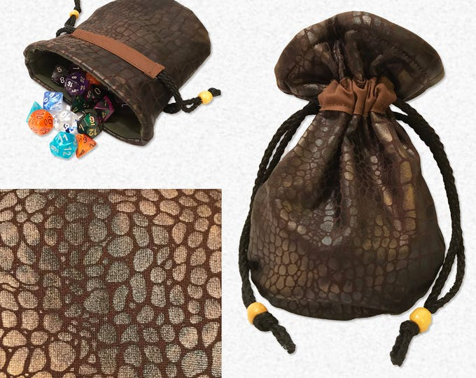 Dragon Skin Dice Bag // Dice Pouch  // Tabletop Gaming & Roleplaying Game //