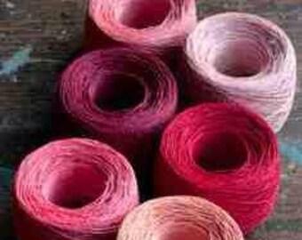 Botanically Dyed Flax Yarn