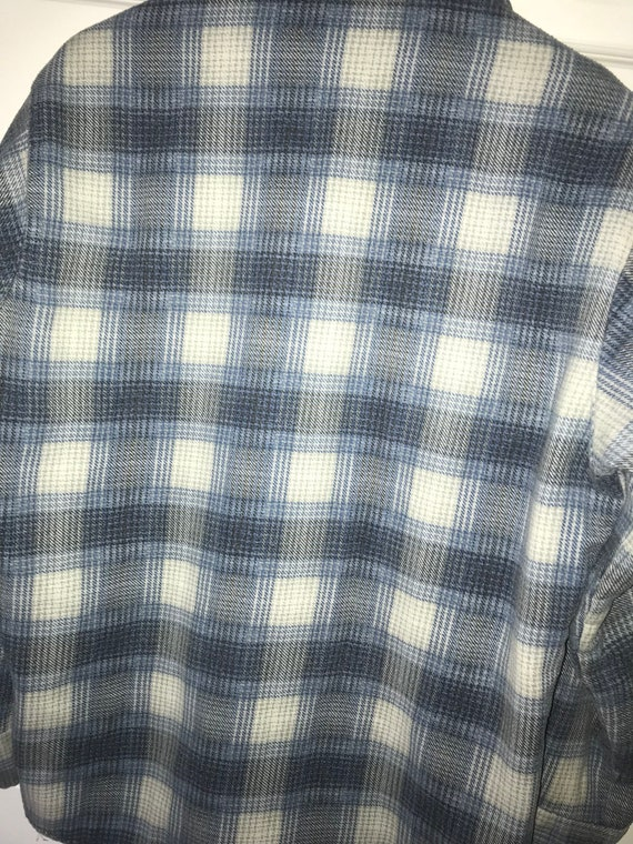 Vintage Super Soft and Thin Trent Plaid shirt Size Medium