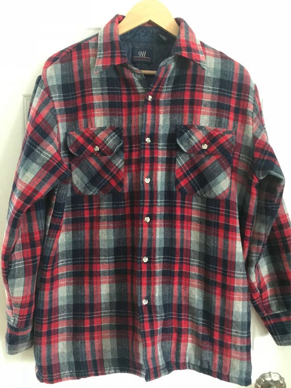 Red And Blue Flannel Jacket