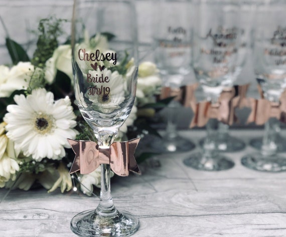 PERSONALISED 2020 WINE CHAMPAGNE GIN GLASS CHARM table place wedding day  Party