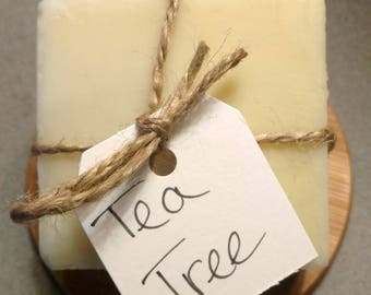 Tea Tree - Handmade Soap - Natural Soap - Essential Oil Soap - Cold Process Soap