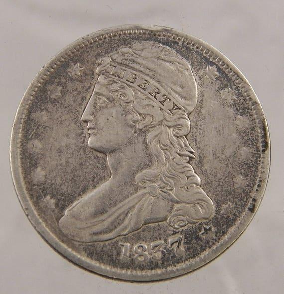 1837 Umlauf Schneebedeckte Büste 50 Cent Us Münze Etsy