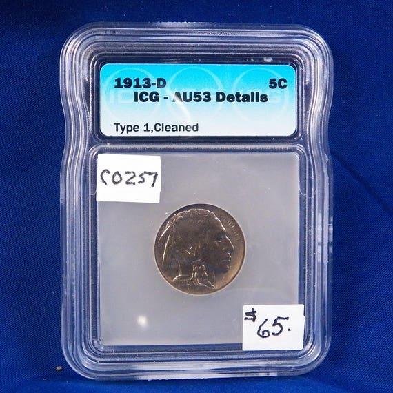 1938 D 5c Indian Head Buffalo Nickel US Coin BU Very Choice Uncirculated