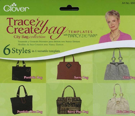 Trace \'n Create Bag Templates with Nancy Zieman City Bag | Etsy