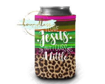 Personalized Birthday Can Coolers Taco Fiesta Serape Personalized Funny Custom Birthday Full Color Neoprene Can Coolers