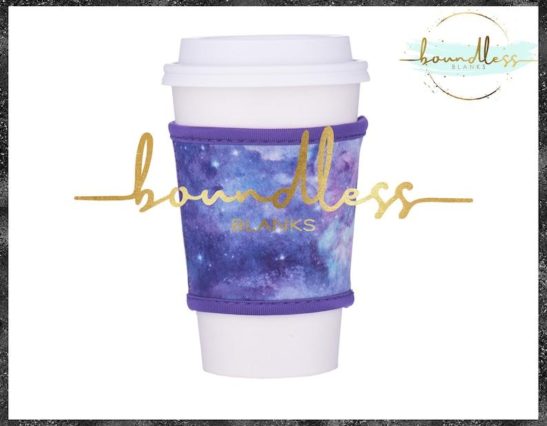 Purple Galaxy Neoprene Coffee Sleeve HolderCooler Perfect for HTV Personalization Vinyl Blanks