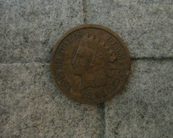 Indian Head cent 1891