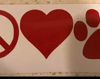 Pet lovers decal