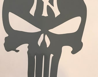 Skull Yankee decal hreat for car truck wall anywhere