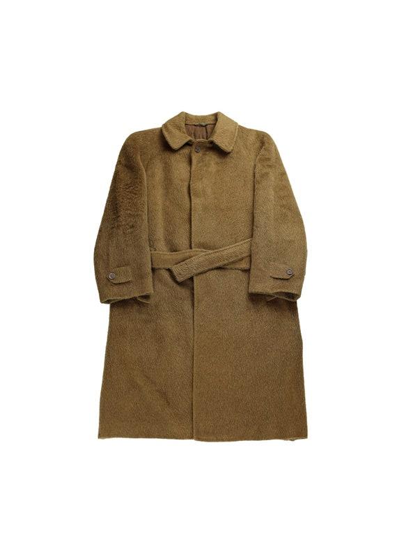 Lanvin Lama Wool Camel Belted Coat Large