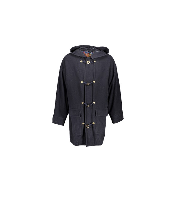 Versace Jeans Couture Duffel Coat Wool Gold Button