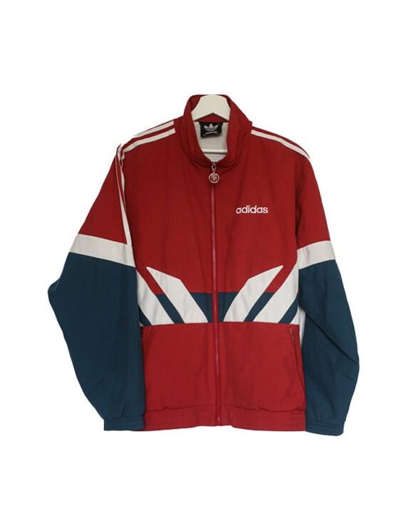 Vintage Adidas Tracksuit Jacket Oversized Medium