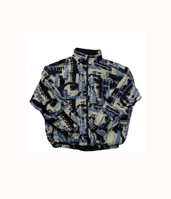 Vintage Reebok Graphic Tracksuit Jacket Medium