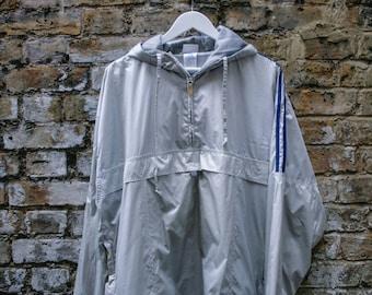 Adidas Silver Pullover Windbreaker Medium