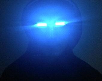 LED Glowing eyes (Blue, Red, White, Green ,Yellow ,Pink , Orange), Headpiece, Cosplay Glowing eyes, Super Hero Eyes.