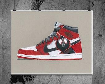 brand new 1c91c 56b10 Nike Air Jordan - Miles Morales - Illustrated Prints
