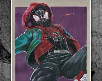 promo code 485e3 54573 Miles Morales - Spiderman - Marvel - Original Drawing