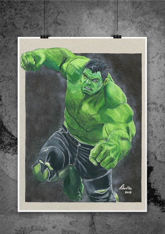 The Hulk Mark Ruffalo Avengers Infinity War Illustrated Etsy